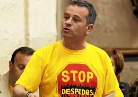 El portavoz de IU en el Parlamento, José Antonio Castro.