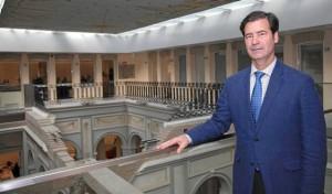 Miguel Rus, presidente de la CES, en la sede de la Cámara y de la patronal sevillana.- J. M. Espino (Atese)