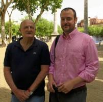 Vicente villegas y Juan Carlos Zambrano de la asociación de vecinos Blas Infante. E.Recio