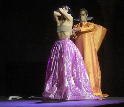 El vestido de Ruiz de la Prada sin el corpiño.
