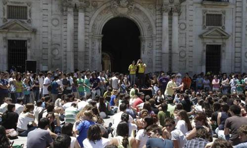 Concentración por la huelga en mayo del año pasado. / Estefanía González (ATESE)