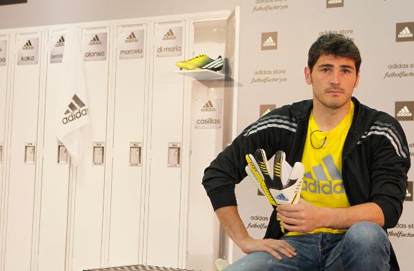 Iker Casillas, capitán del Real Madrid, este jueves en un acto promocional.