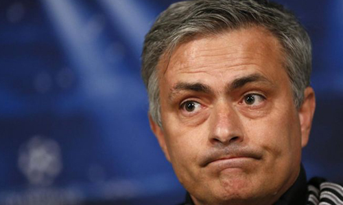 Mourinho en rueda de prensa.
