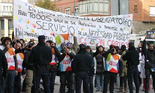 Manifestación de los trabajdores de Telemadrid.
