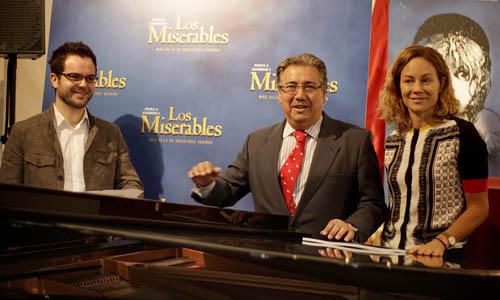Presentación del musical Los Miserables.
