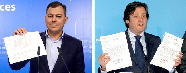 El alcalde deTomares y número 2 del PP andaluz, José Luis Sanz (izda.) y El teniente de alcalde, Eloy Carmona.