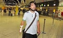 Beñat, en el aeropuerto de Sevilla.