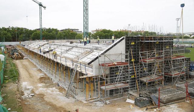 Así están las obras en la ciudad deportiva Betis