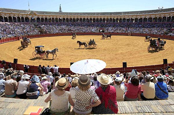 XXVIII Exhibición de Enganches de la Feria de Sevilla. / Foto: Reuters