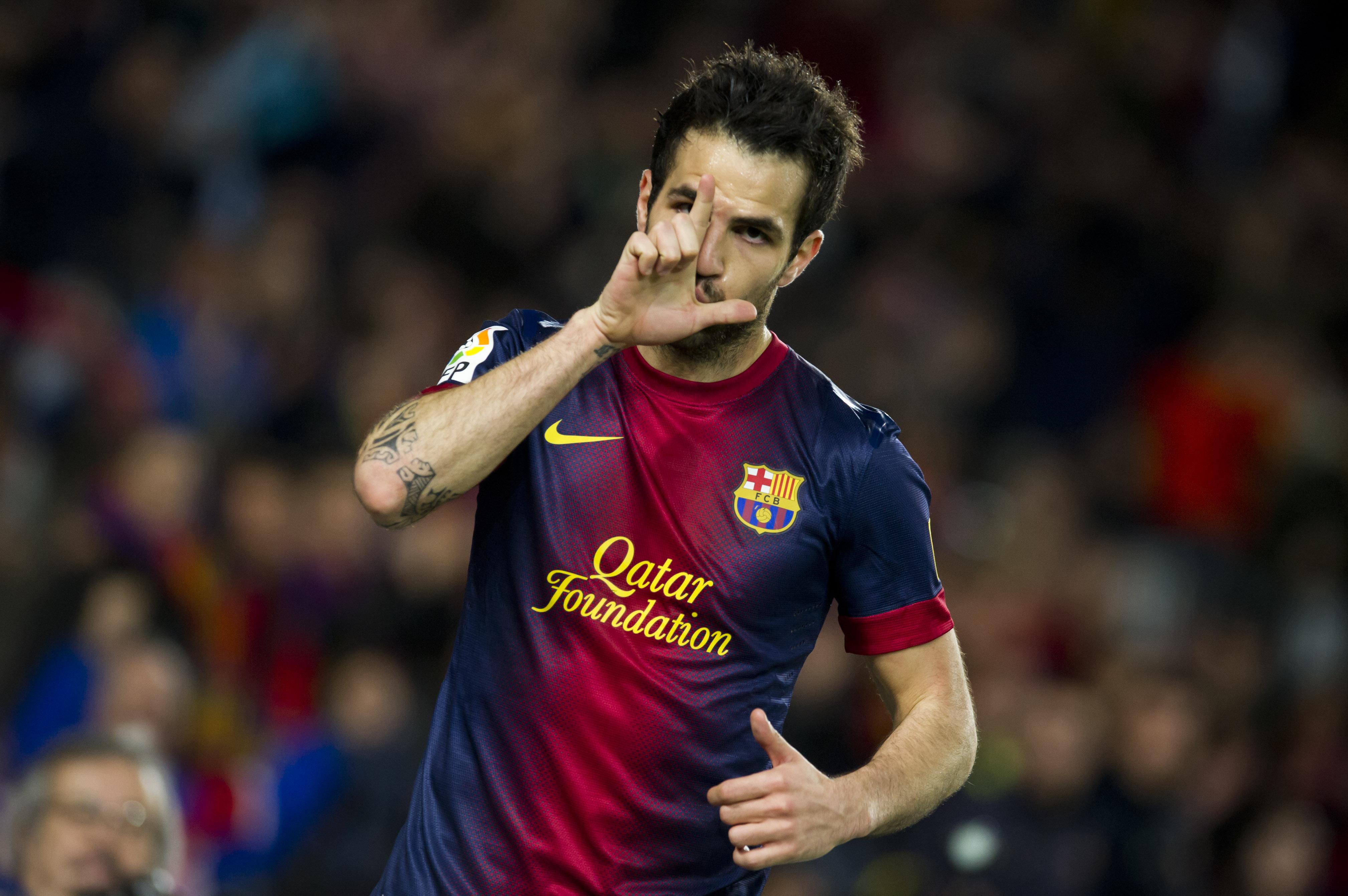 Cesc celebra uno de sus goles / Marcamedia