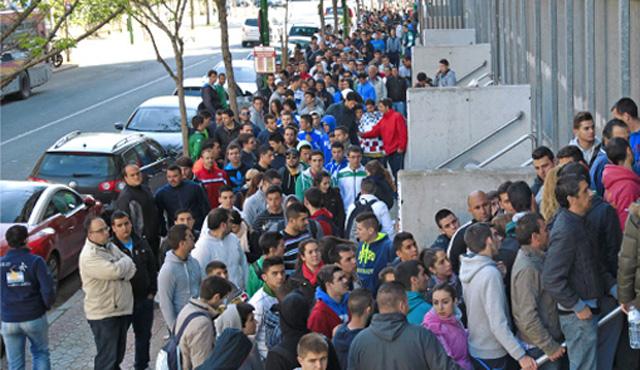 Así estaba la calle Padre Tejero esta mañana (Real Betis)