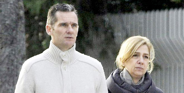 Iñaki Urdangarín y la Infanta Cristina.