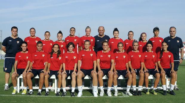 Plantel del primer equipo femenino. (Foto: Sevilla FC)