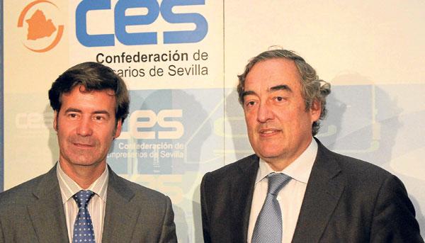 El presidente de la CEOE en los Encuentros Empresariales de la CES.  / J. C. Cruz (Atese)