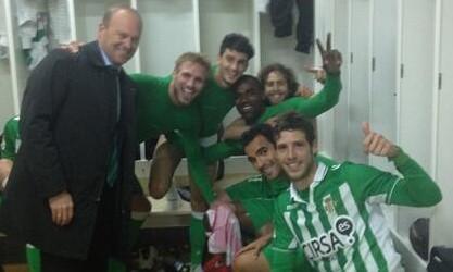 Rubén Pérez, con Mel y otros compañeros en Los Cármenes.