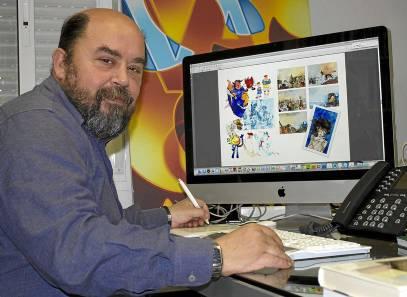 Jaime Pandelet, en el estudio que la firma acaba de abrir en la calle Orfila, frente a los Panaderos. Manu R.R.