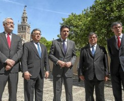 33 Antonio Ávila, Juan Ignacio Zoido, José Manuel Soria, Agustín Vidal-Aragón y Juan Martínez Barea. J.M. Espino (Atese)