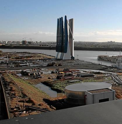 La nueva esclusa del Puerto, en una imagen de su puesta en servicio. / Paco Cazalla