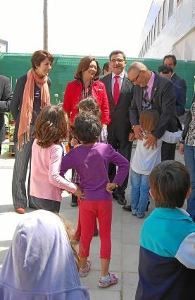 Visita institucional de Mar Moreno al colegio Los Cercadillos de Alcalá de Guadaíra.