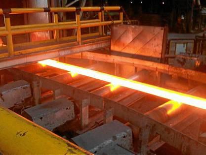 Producción de acero corrugado en Siderúrgica Sevillana.