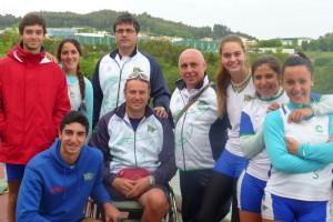 Algumos miembros de la delegación del Náutico Sevilla