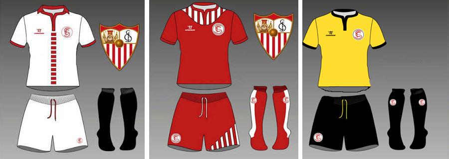 Nuevas Camisetas SevillaFC Warrior tres