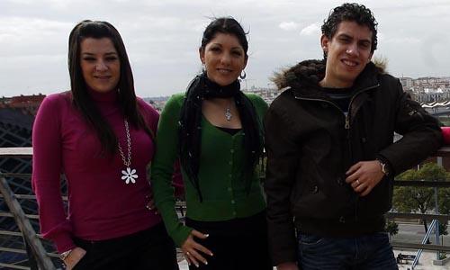 Los cantantes Erika Leiva, Joana  Jiménez y Antonio Cortés. /Javier Cuesta