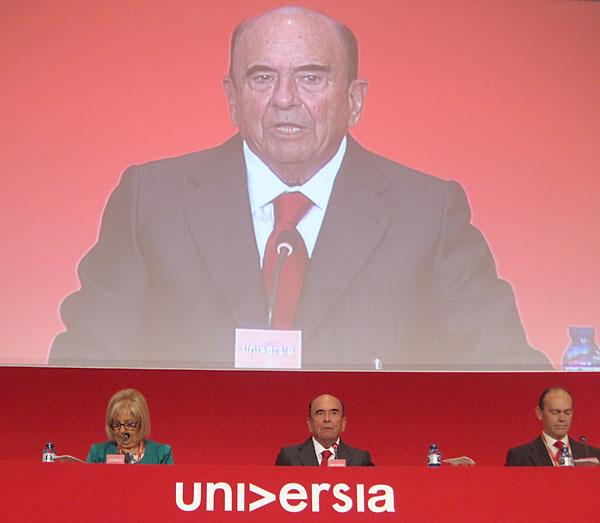 Emilio Botín preside la junta de accionistas de Universia en Málaga. / E. P.