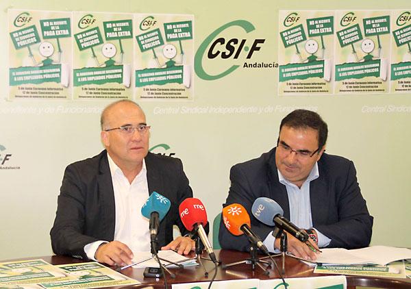 El presidente de CSIF-A, José Luis Heredia, y el responsable de Acción Sindical, Francisco Iglesias.