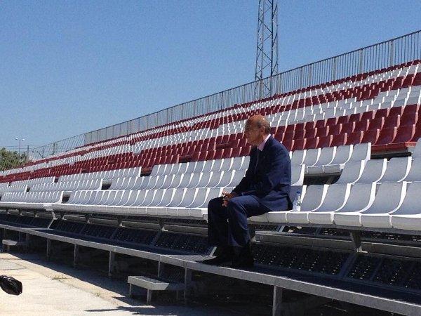 Del Nido, en la ciudad deportiva (Foto: Sevilla FC)