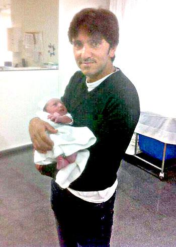 Diego Ventura con su niño.
