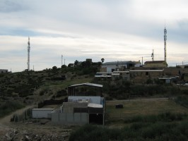 Antenas de telefonía en Aznalcóllar.