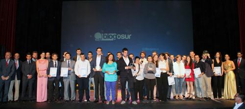 Todos los premiados en la tercera edición de los Premios Blogosur.