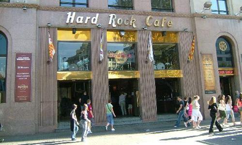 Fachada del Hard Rock Café de Barcelona.