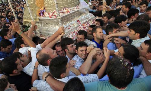 Procesión de la Virgen del Rocío. / Reuters