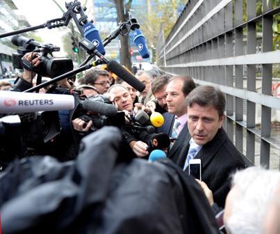 Eufemiano Fuentes, a la salida del juzgado (Marcamedia).