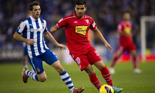 Rabello, durante el partido de ida (Marcamedia).