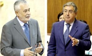 El presidente de la Junta y el líder del PP-A, en la sesión de control al Gobierno