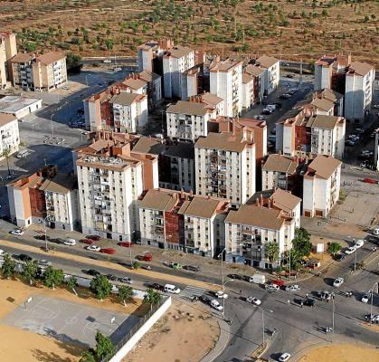 Vista aérea de Martínez Montañés. Foto: Antonio Acedo.