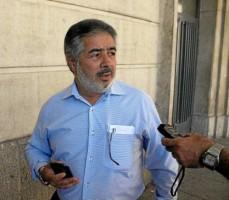 El presidente de los mayoristas de Mercasevilla, Jose María Morillo, a su llegada a los juzgados