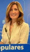 Alicia Martínez, diputada del PP-A, ayer en rueda de prensa