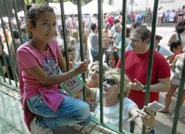 recogida niños pueblo saharahui