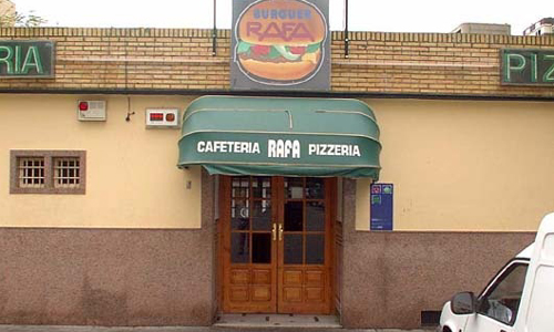 El Bar Rafa, donde se ha sellado el boleto ganador, en Santa Aurelia.