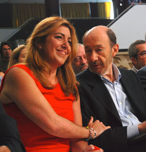 Díaz y Rubalcaba este sábado en Sevilla