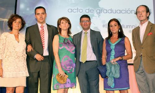 Mª Ángeles González Cobreros; Jorge Morilla; Inmaculada Respaldiza; Mario Muñoz; Concha Gil; y Carlos Telmo, profesores de EUSA.