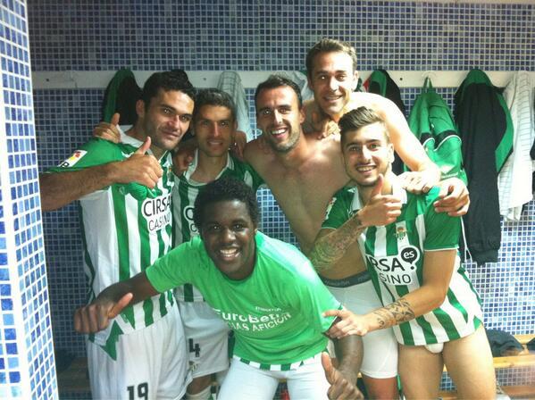Así estaba el vestuario tras el pase europeo / Real Betis