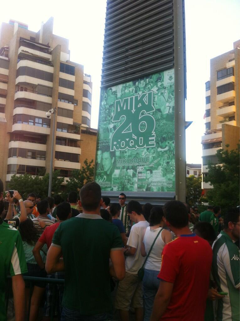 Una de las caras del Memorial de Miki Roqué / Real Betis