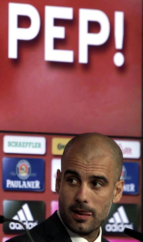 New Bayern Munich coach Guardiola attends news conference in Munich
