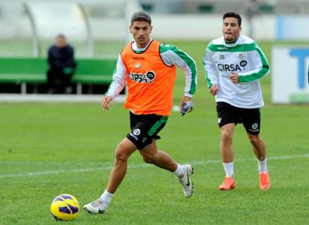 Salva Sevilla, en un entrenamiento (Marcamedia).