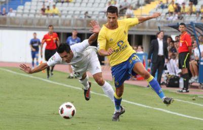 Vitolo, celebrando un gol. (Marcamedia).